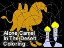 Alone Camel In The Desert Coloring