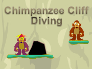 Chimpanzee Cliff Diving