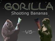 Gorilla Shooting Bananas