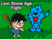 Lion Stone Age Fight