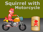Squirrel with a Motorcycle