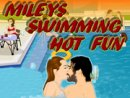 Mileys Swimming Hot Fun