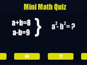 Mini Math Quiz