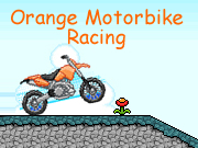 Orange Motorbike Racing