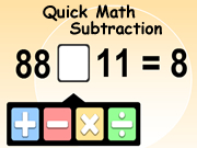 Subtraction Quick Math