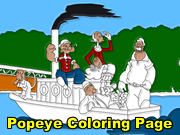 Popeye Coloring Page