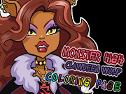 Monster High Clawdeen Wolf Coloring