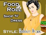 Shop N Dress Food Roll Game Holiday Dress