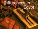 Differences in Egypt
