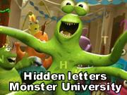 Hidden letters: Monster University