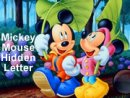 Mickey Mouse Hidden Letter