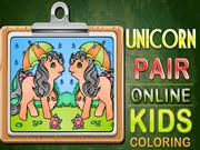 Unicorn Pair Online Kids Coloring