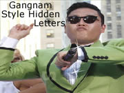 Gangnam Style Hidden Letters