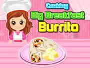 Cooking Big Breakfast Burrito