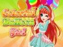 Colorful Balloon Girl