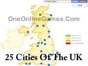 25 Cities Of The UK Topography
