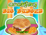 Kitchen Cooking Big Burger
