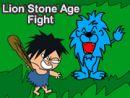 Lion Stone Age Fight