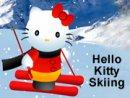 Hello Kitty Skiing