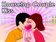 Housetop Couple Kiss