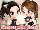 Sisters with Cats 2