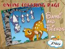 Bambi and Friends Online Coloring