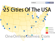 25 Cities Of The USA Topography